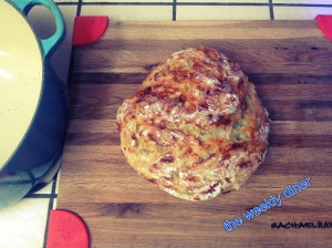 Artichoke, garlic and mozzarella loaf