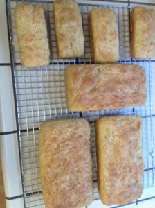 beautifully golden english muffin bread