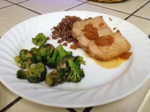 Sweet & Sour Pork Loin and Sriracha Broccoli