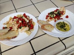 Grilled Chicken Bruschetta served two ways