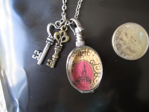 My favorite- a Vintage Walt Disney world Magic Key ticket turned pendant