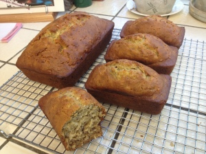 two batches of Coconut Banana Bread