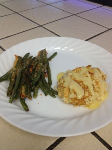 Chicken Pillow with Parmesan Green Beans