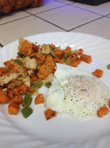 Chicken and Sweet Potato Hash